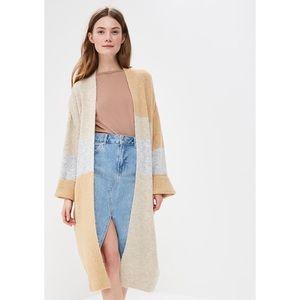 Topshop   Patchwork Midi Length Cardigan Sweater